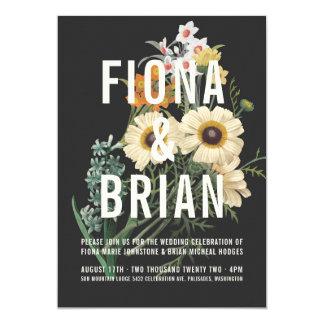 Invitations rêveuses botaniques de mariage