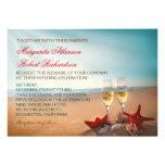 Invitations romantiques de mariage de plage de cou