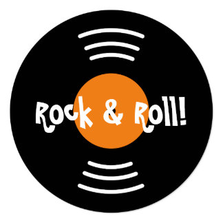 Invitations rondes de fête d'anniversaire du rock