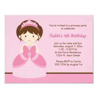 Invitations roses de fête d'anniversaire de carton d'invitation 10,79 cm x 13,97 cm