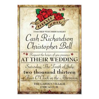 Invitations roses de mariage de balancier de