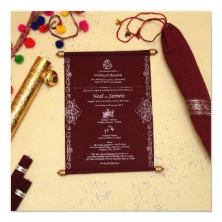 Invitations royales de mariage de rouleau
