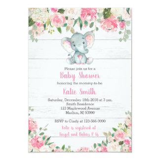 Invitations rustiques de baby shower d'éléphant