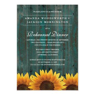 Invitations rustiques de dîner de répétition de