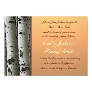 Invitations rustiques de mariage d'arbres de