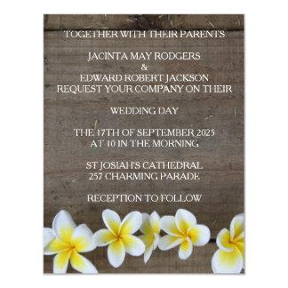 Invitations rustiques de mariage de