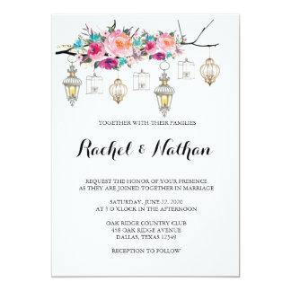 Invitations rustiques de mariage de lanterne