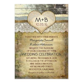 invitations rustiques de mariage de pays carton d'invitation  12,7 cm x 17,78 cm
