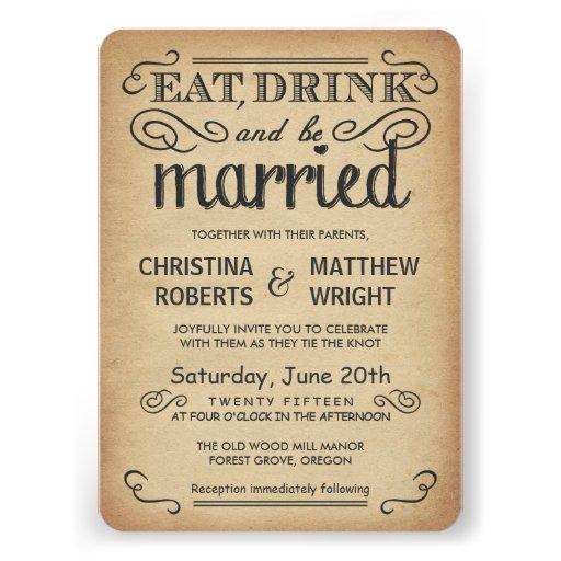 Invitations rustiques de mariage de style de poste