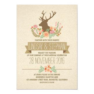 Invitations rustiques romantiques de mariage