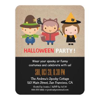 Invitations sales de partie de Halloween d'enfants