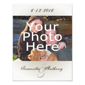 Invitations simples chiques de mariage de photo
