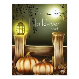 Invitations simples de partie de Halloween de lune