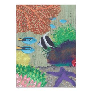 Invitations tropicales colorées de partie de