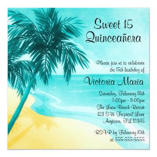 Invitations tropicales d'anniversaire de