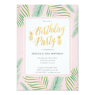 Invitations tropicales d'anniversaire de Luau en
