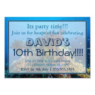 Invitations tropicales d'anniversaire de mer de