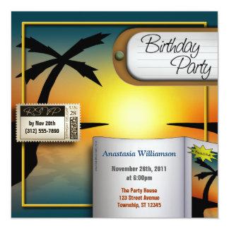 Invitations tropicales de fête d'anniversaire de