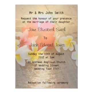 Invitations tropicales de mariage de plage de