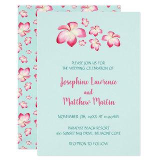 Invitations tropicales de mariage de Plumeria