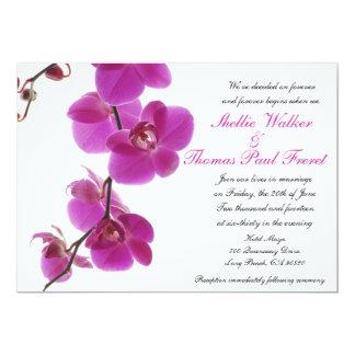 Invitations tropicales de mariage d'orchidée