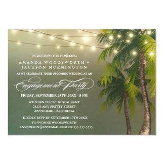 Invitations tropicales de partie de fiançailles de