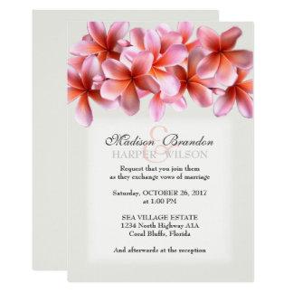 Invitations tropicaux gris-clair de mariage de