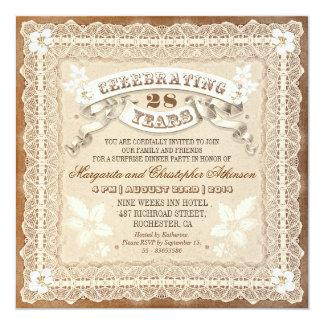 invitations typographiques d'anniversaire de