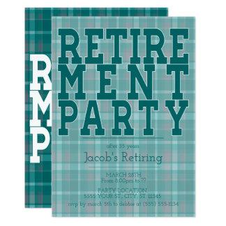 Invitations vertes sportives de partie de retraite
