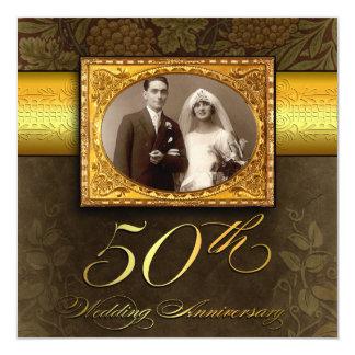 invitations vintages d'anniversaire du mariage 50