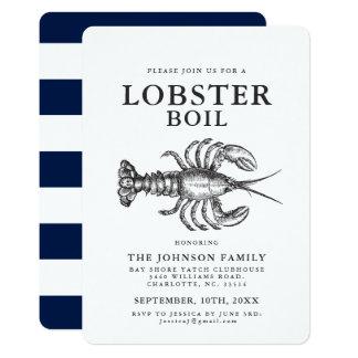 Invitations vintages de crabe de style