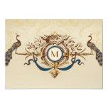 Invitations vintages de mariage de monogramme carton d'invitation  12,7 cm x 17,78 cm