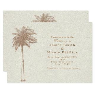 Invitations vintages de mariage de plage de