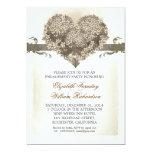 invitations vintages de partie de fiançailles