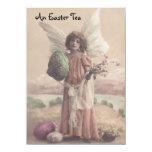 Invitations vintages douces de thé de Pâques Carton D'invitation 11,43 Cm X 15,87 Cm