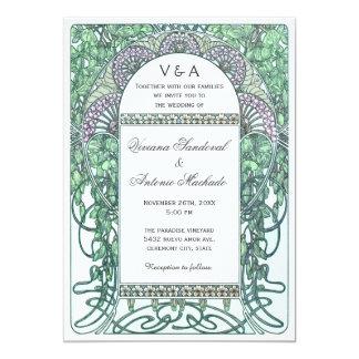 Invitations vintages enchantées de mariage de carton d'invitation  12,7 cm x 17,78 cm