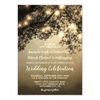 Invitations vintages rustiques de mariage de