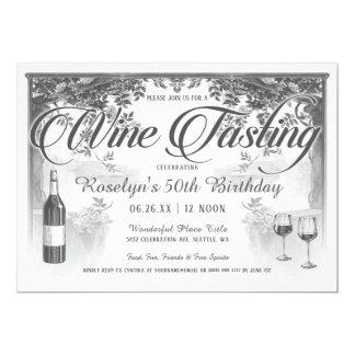 Invitations vintages suprêmes d'échantillon de vin