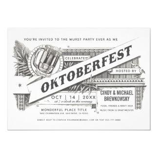 Invitations vintages suprêmes d'Oktoberfest