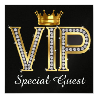 Invité spécial de VIP - SRF Carton D'invitation 13,33 Cm