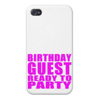 Invités Invité d anniversaire prêt à party Coques iPhone 4