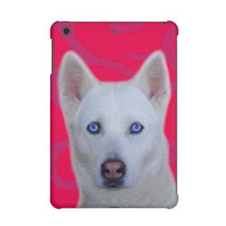 iPad blanc de chien de traîneau sibérien cas mini