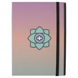 """iPad Pro 12.9"""" Case Arrière - plan coloré avec une icône de fleur"""