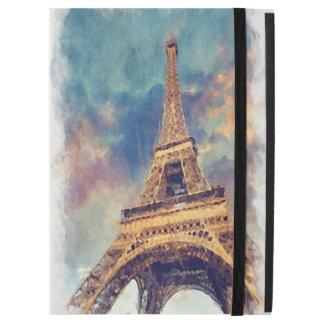 """iPad Pro 12.9"""" Case Art en pastel mignon d'aquarelle de Tour Eiffel"""