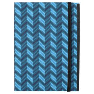 """iPad Pro 12.9"""" Case Chevron bleu-foncé frais"""