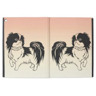 """iPad Pro 12.9"""" Case Chiens noirs et blancs mignons sur le pro cas"""