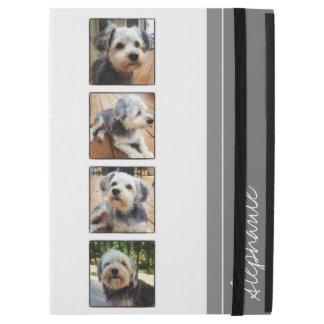 """iPad Pro 12.9"""" Case Collage de photo d'Instagram - gris blanc"""