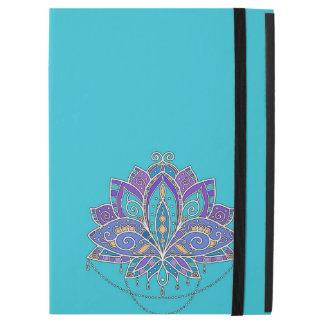 """iPad Pro 12.9"""" Case Fleur de Lotus colorée lumineuse sur la sarcelle"""