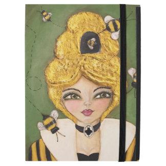 """iPad Pro 12.9"""" Case Jaune lunatique de vert d'art de fille de cheveux"""