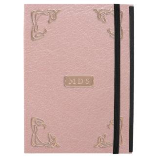 """iPad Pro 12.9"""" Case La fantaisie rose de cuir d'or de Faux accule le"""